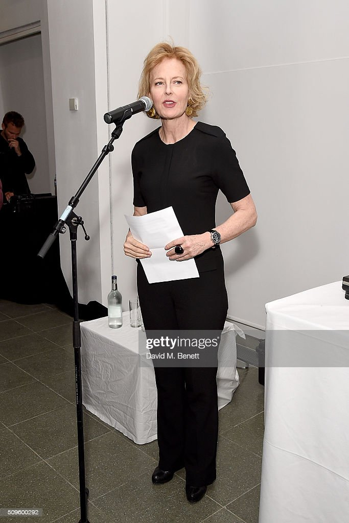 <a gi-track='captionPersonalityLinkClicked' href=/galleries/search?phrase=Julia+Peyton-Jones&family=editorial&specificpeople=2130494 ng-click='$event.stopPropagation()'>Julia Peyton-Jones</a> speaks at The Calder Prize 2005-2015 presented by Pace London And The Calder Foundation, on February 11, 2016 in London, England.