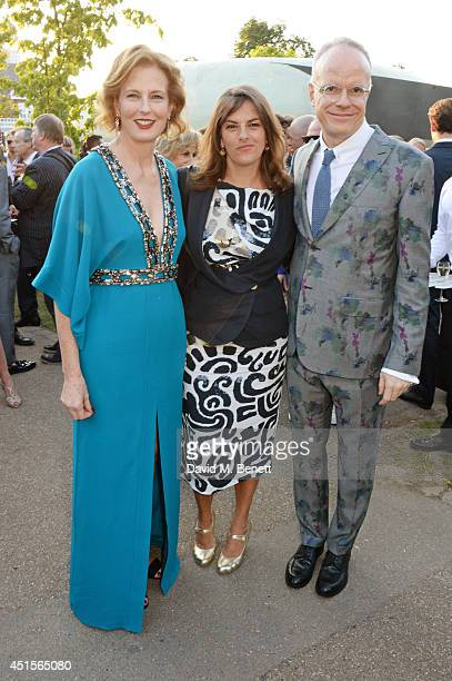 Julia PeytonJones Tracey Emin and HansUlrich Obrist attend The Serpentine Gallery Summer Party cohosted by Brioni at The Serpentine Gallery on July 1...