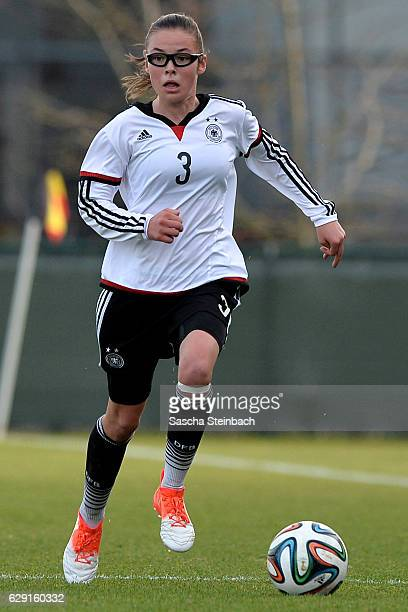 Julia Pollak of Germany runs with the ball during the U15 Girl's international friendly match between Belgium and Germany on December 11 2016 in...