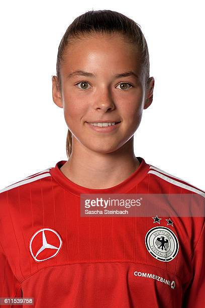 Julia Pollak poses during the Germany U15 Girl's team presentation on September 27 2016 in Kamen Germany