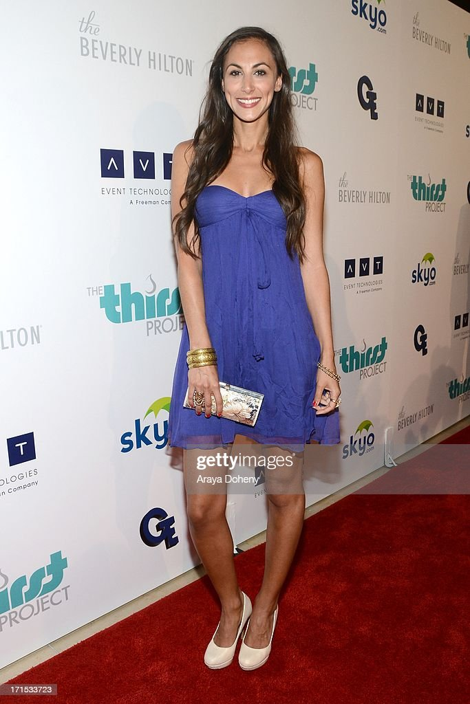 <a gi-track='captionPersonalityLinkClicked' href=/galleries/search?phrase=Julia+Price+-+Singer&family=editorial&specificpeople=211400 ng-click='$event.stopPropagation()'>Julia Price</a> attends the 4th Annual Thirst Gala at The Beverly Hilton Hotel on June 25, 2013 in Beverly Hills, California.