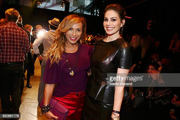Julia Prillwitz and Dany Michalski attend the Breuninger show during Platform Fashion January 2017 at Areal Boehler on January 27 2017 in Duesseldorf...
