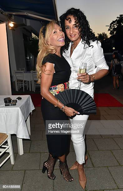 Julia Prillwitz and Manuela ThomaAdofo during the My Big Fat Greek cocktail on September 13 2016 in Munich Germany
