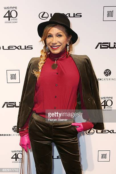 Julia Prillwitz attends the AMDFashionshow Exit17 show during Platform Fashion January 2017 at Areal Boehler on January 28 2017 in Duesseldorf Germany