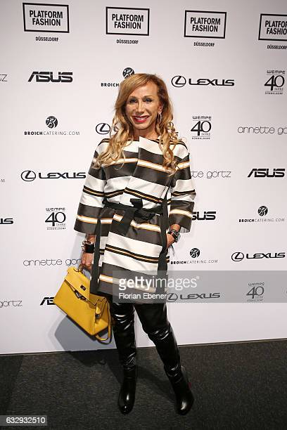 Julia Prillwitz attends the Annette Goertz show during Platform Fashion January 2017 at Areal Boehler on January 28 2017 in Duesseldorf Germany