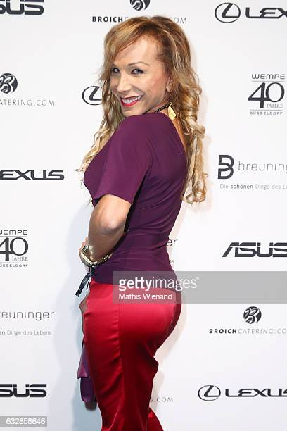Julia Prillwitz attends the Breuninger show during Platform Fashion January 2017 at Areal Boehler on January 27 2017 in Duesseldorf Germany