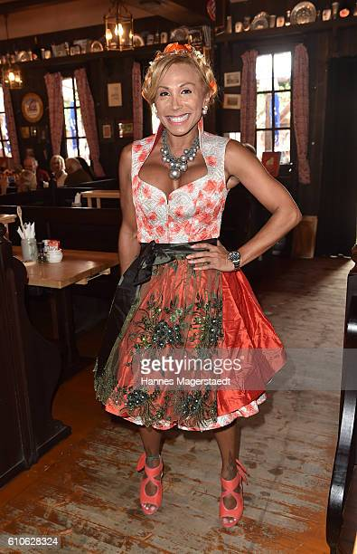 Julia Prillwitz attends the Charity Lunch at 'Zur Bratwurst' during the Oktoberfest 2016 on September 27 2016 in Munich Germany