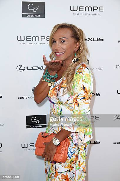 Julia Prillwitz attends the Platform Fashion Selected show during Platform Fashion July 2016 at Areal Boehler on July 24 2016 in Duesseldorf Germany