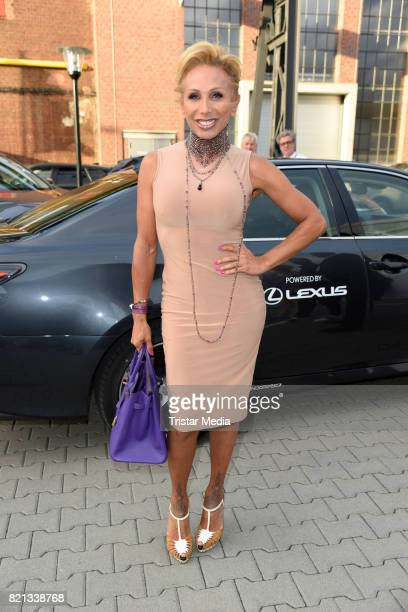 Julia Prillwitz attends the Thomas Rath show during Platform Fashion July 2017 at Areal Boehler on July 23 2017 in Duesseldorf Germany