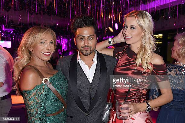 Julia Prillwitz Samuel Sohebi and Verena Kerth attend the Opening Party of the Men's Beauty Clinic on October 15 2016 in Duesseldorf Germany