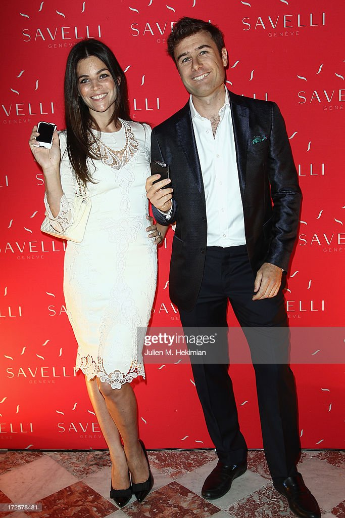 Julia Restoin Roitfeld and Alessandro Savelli attend the Founder And CEO Alessandro Savelli And Contemporary Style Icon Julia Restoin Roitfeld Launch SAVELLI The World's First Luxury Smart Phone Especially For Women During Haute Couture Week at Musee Jacquemart-Andre on July 3, 2013 in Paris, France.
