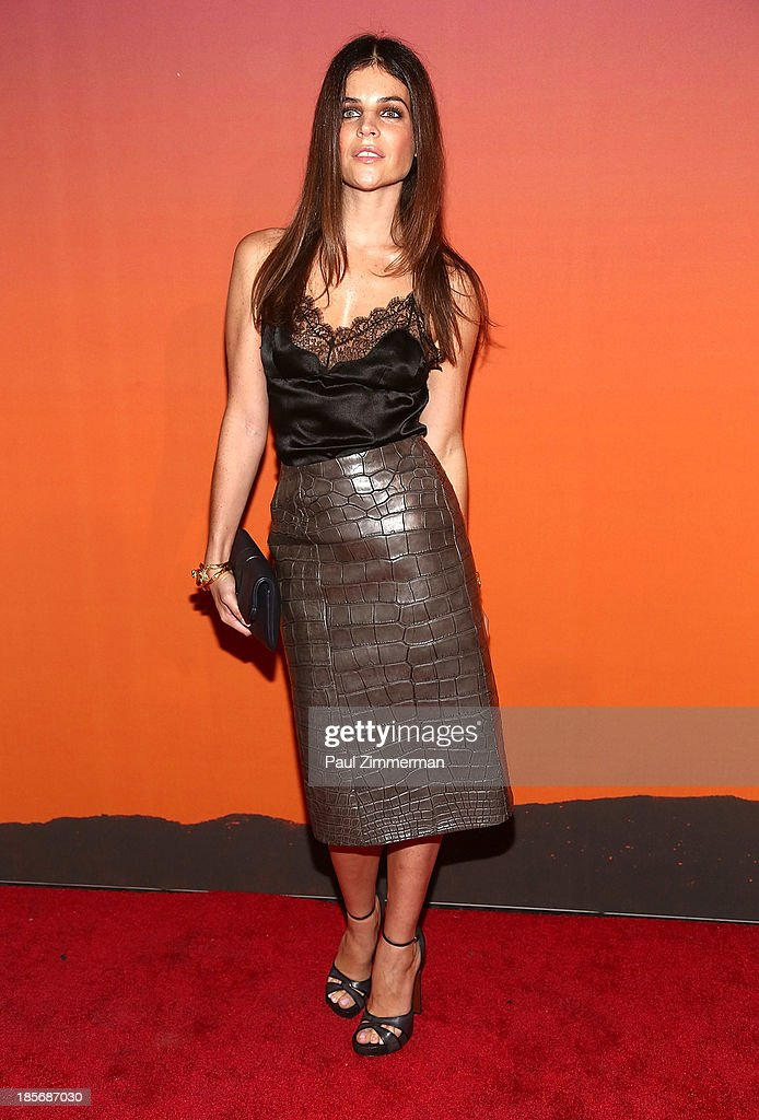 Julia Restoin Roitfeld arrives at the 2013 Whitney Gala and Studio Party at Skylight at Moynihan Station on October 23, 2013 in New York City.
