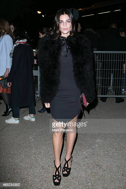 Julia Restoin Roitfeld arrives at the HM fashion show during Paris Fashion Week Fall Winter 2015/2016 on March 4 2015 in Paris France