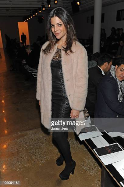 Julia Restoin Roitfeld attends the Kevork Kiledjian Fall 2011 fashion show>> during MercedesBenz Fashion Week at Milk Studios on February 14 2011 in...