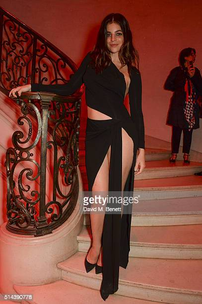 Julia Restoin Roitfeld attends the Red Obsession party in Paris to celebrate L'Oreal Paris's partnership with Paris Fashion Week L'Oreal Paris...