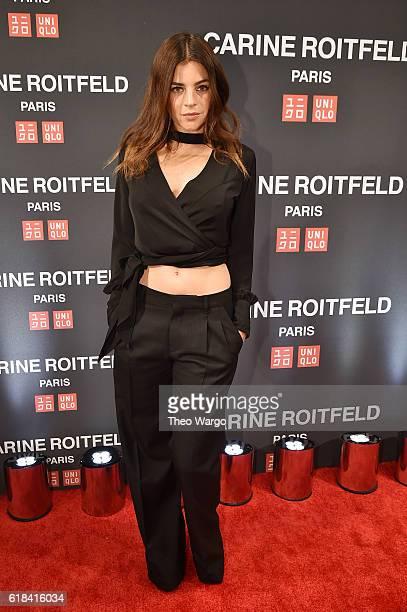 Julia Restoin Roitfeld attends the UNIQLO Fall/Winter 2016 Carine Roitfeld collection launch at UNIQLO on October 26 2016 in New York City