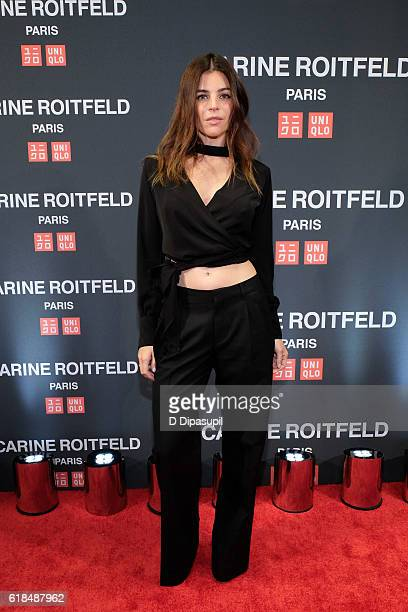 Julia Restoin Roitfeld attends the UNIQLO Fall/Winter 2016 Carine Roitfeld Collection Launch at UNIQLO on October 26 2016 in New York City