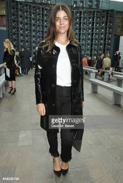 Julia Restoin Roitfeld attends the Versus SS18 catwalk show during London Fashion Week September 2017 at Central St Martins on September 17 2017 in...