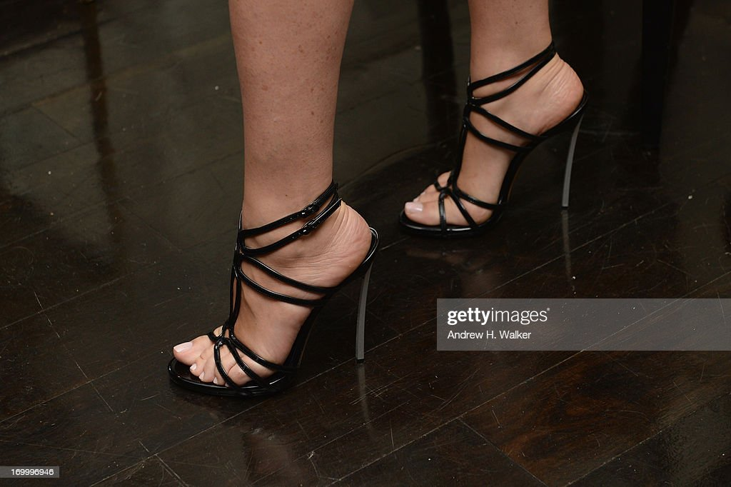 Julia Restoin Roitfeld wears Casadei shoes at the Casadei dinner at Omar's, hosted by Julia Restoin Roitfeld and Cesare Casadei celebrating Resort 2014 at on June 5, 2013 in New York City