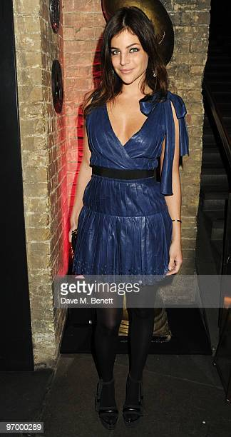 Julia RestoinRoitfeld arrives at the Love Ball London at the Roundhouse on February 23 2010 in London England