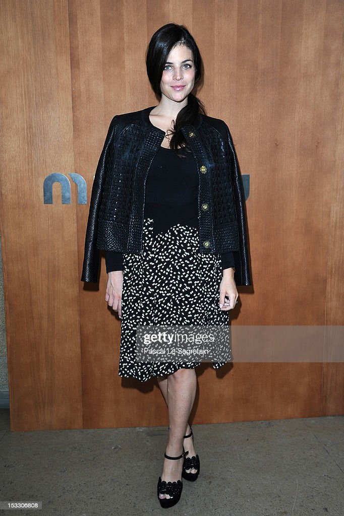 Julia Restoin-Roitfeld attends the Miu Miu Spring/Summer 2013 show as part of Paris Fashion Week on October 3, 2012 in Paris, France.