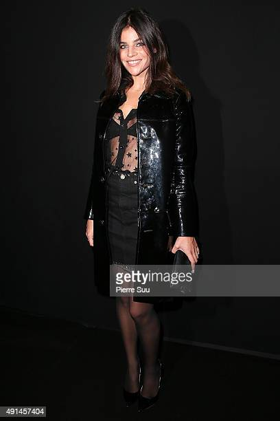 Julia RestoinRoitfeld attends the Saint Laurent show as part of the Paris Fashion Week Womenswear Spring/Summer 2016 on October 5 2015 in Paris France