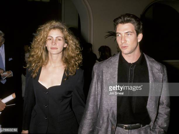 Julia Roberts and Dylan McDermott at the Hollywood Roosevelt Hotel in Hollywood California