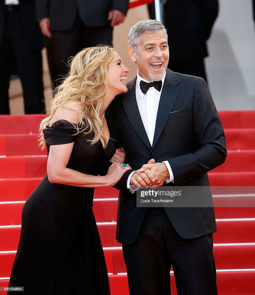 Julia Roberts and George Clooney attend the screening of 'Money Monster' at the annual 69th Cannes Film Festival at Palais des Festivals on May 12, 2016 in Cannes, France. (Photo by Luca Teuchmann/WireImage)Julia Roberts