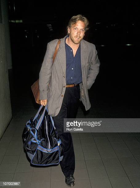 Julia Roberts and Kiefer Sutherland during Julia Roberts and Kiefer Sutherland at Los Angeles International Airport June 10 1990 at Los Angeles...