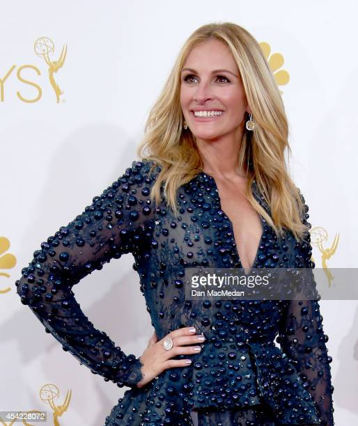 Julia Roberts arrives at the 66th Annual Primetime Emmy Awards at Nokia Theatre LA Live on August 25 2014 in Los Angeles California