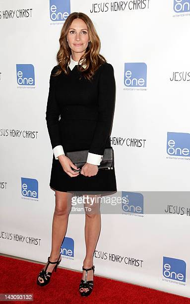 Julia Roberts attends the Los Angeles premiere of 'Jesus Henry Christ' at Mann Chinese 6 on April 18 2012 in Los Angeles California