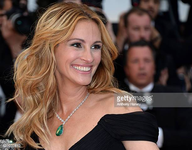 Julia Roberts attends the 'Money Monster' premiere during the 69th annual Cannes Film Festival at the Palais des Festivals on May 12 2016 in Cannes...