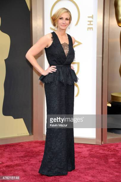Julia Roberts attends the Oscars held at Hollywood Highland Center on March 2 2014 in Hollywood California