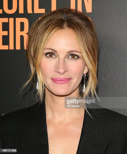 Julia Roberts attends the premiere of STX Entertainment's 'Secret In Their Eyes' at the Hammer Museum on November 11 2015 in Westwood California