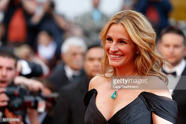 Julia Roberts attends the screening of 'Money Monster' at the annual 69th Cannes Film Festival at Palais des Festivals on May 12 2016 in Cannes France
