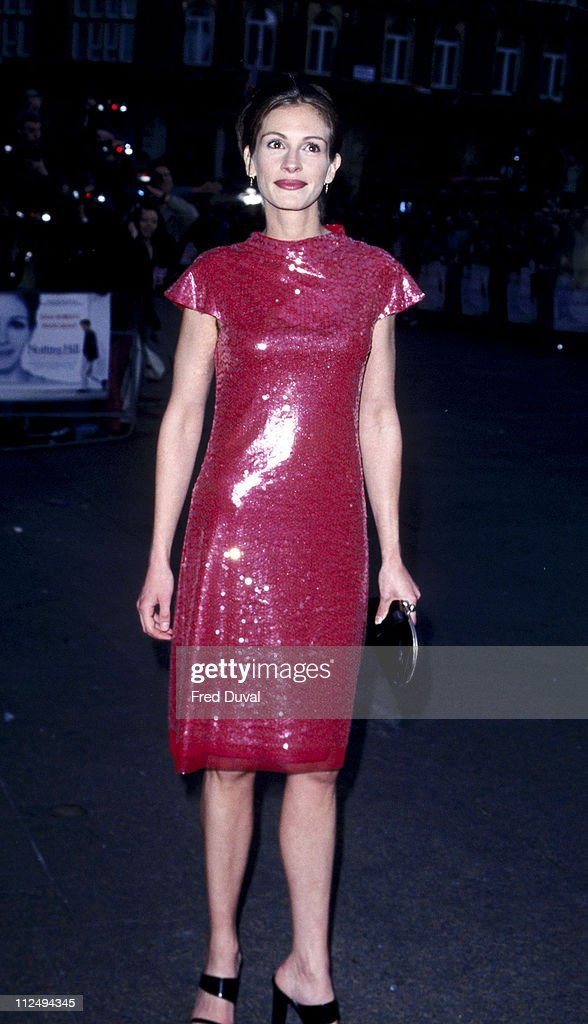 Julia Roberts during 'Notting Hill' - London Premiere - Arrivals at Leicester Square in London, Great Britain.