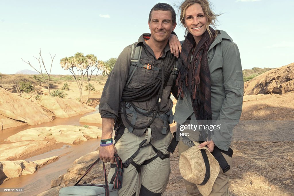 SPECIAL -- Julia Roberts on Running Wild With Bear Grylls -- Pictured: (l-r) Bear Grylls, Julia Roberts --