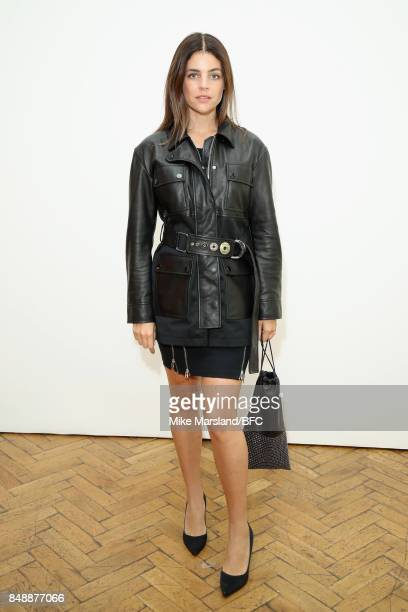 Julia Roitfeld attends the Pringle of Scotland show during London Fashion Week September 2017 on September 18 2017 in London England