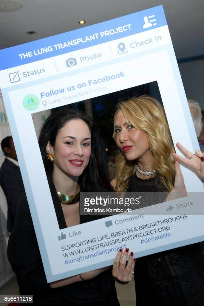 Julia Ruiz and Ofira Sandberg attend the Lung Transplant Project Gala with special guest Patti LaBelle at Guastavino's on October 2 2017 in New York...