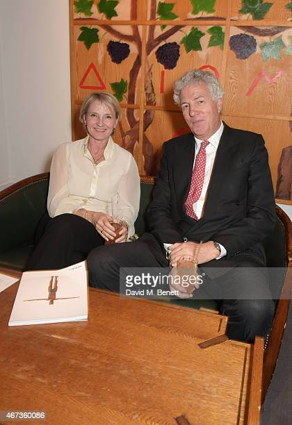 Julia Samuel Child Bereavement UK Founder Patron and Henry Wyndham Chairman of Sotheby's Europe attend Sotheby's to preview iconic items from The Ivy...