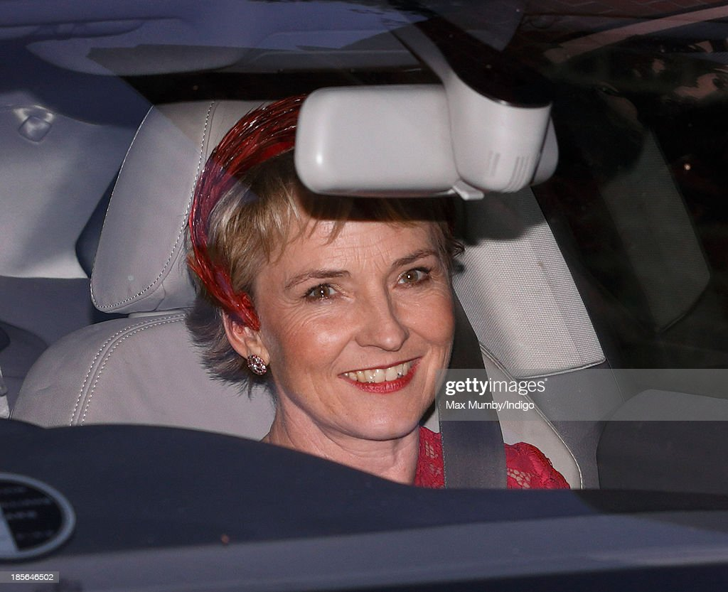 Julia Samuel (Godmother to Prince George of Cambridge) leaves Kensington Palace after earlier attending Prince George of Cambridge's christening at the Chapel Royal in St James's Palace on October 23, 2013 in London, England.