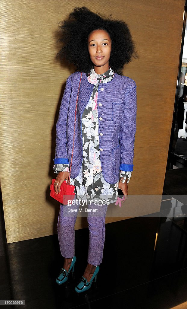Julia Sarr Jamois attends a private view of the new CHANEL flagship boutique on New Bond Street on June 10, 2013 in London, England.