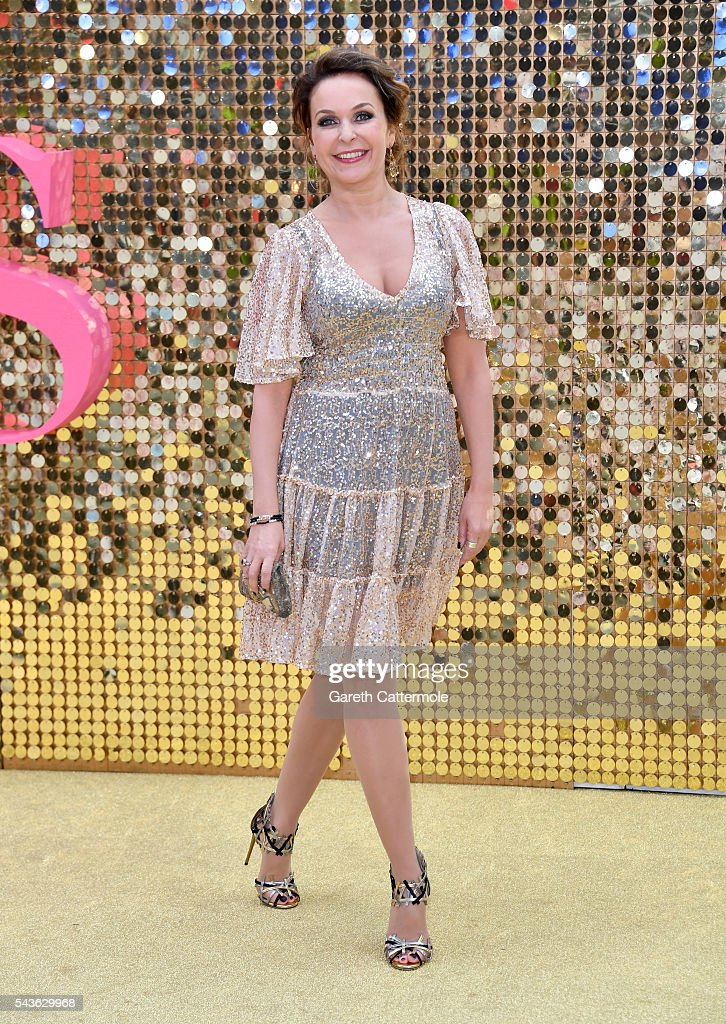 Julia Sawalha attends the 'Absolutely Fabulous: The Movie' World Premiere at the Odeon Leicester Square on June 29, 2016 in London, England.
