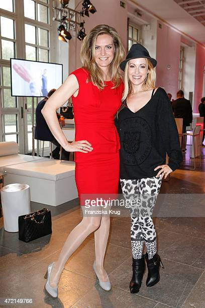 Julia Scharf and Andrea Kaiser attend the OTTO Exclusive Sport Cooperation celebrations on May 04 2015 in Munich Germany