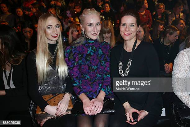 Julia Schindler Nina Bauer and Miriam Lange attend the Thomas Rath show during Platform Fashion January 2017 at Areal Boehler on January 29 2017 in...