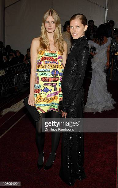 Julia Stegner and Iselin Steiro during 'AngloMania' Costume Institute Gala at The Metropolitan Museum of Art Arrivals Celebrating 'AngloMania...