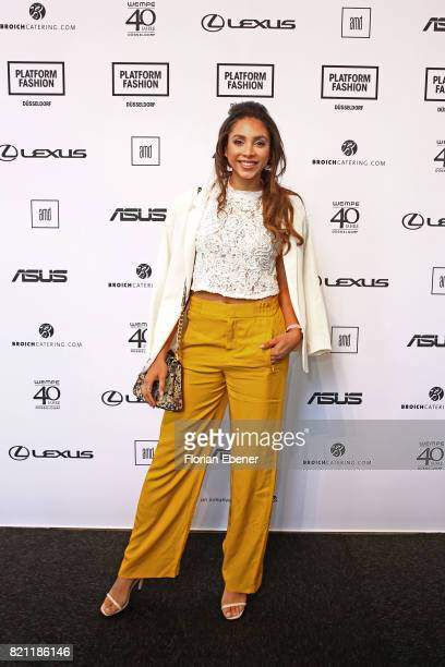 Julia Steyns attends the AMD Exit17_2 show during Platform Fashion July 2017 at Areal Boehler on July 23 2017 in Duesseldorf Germany