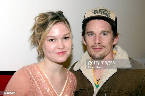 Julia Stiles and Ethan Hawke during Opening Night Arrivals And Afterparty For Sam Shepards' Play 'The God of Hell' at The Actors Studio Drama School...
