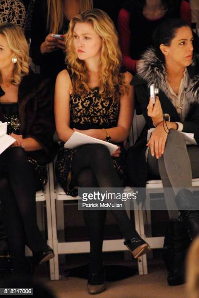 Julia Stiles attends MILLY by MICHELLE SMITH Fall 2010 Collection at Bryant Park Tents on February 17 2010 in New York City