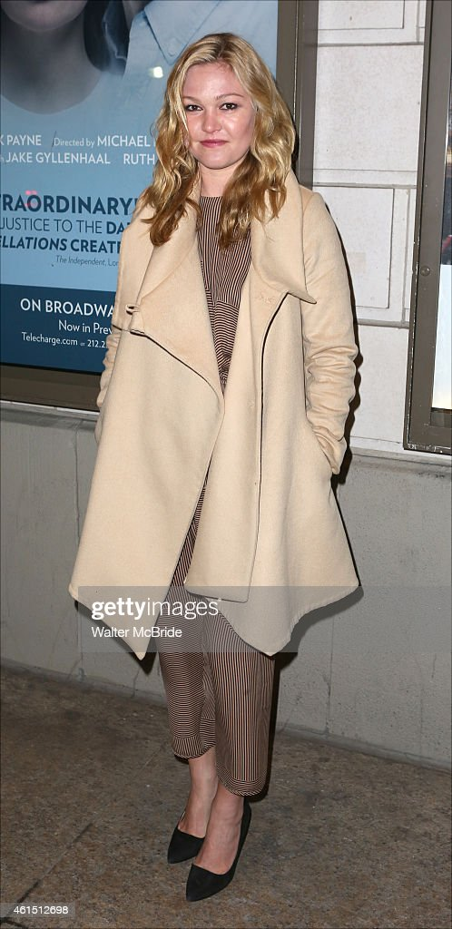 Julia Stiles attends the Broadway Opening Night Performance of The Manhattan Theatre Club's production of 'Constellations' at the Samuel J Friedman...